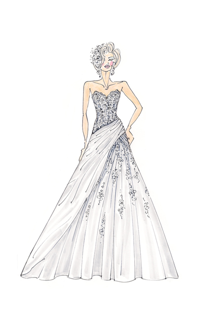 Wedding Dress Line Drawing : Wedding dress style guide ? bridal boutique