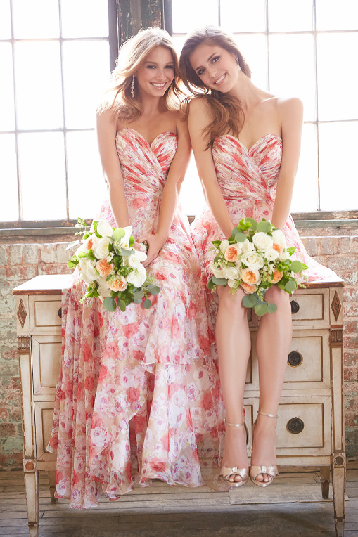 Floral Bridesmaid, San Angelo, Dress