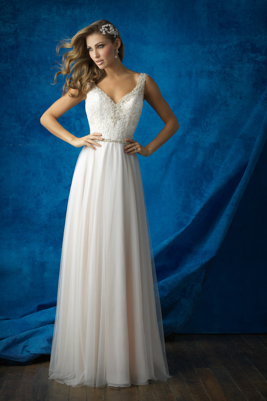 allure bridal 9373, San Angelo, Bridal, Bohemian, Wedding Dress