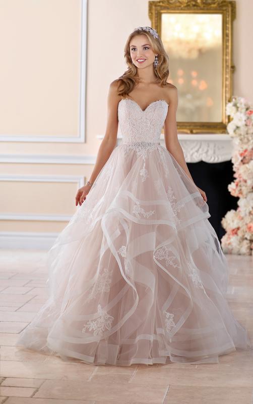 Pink and black wedding dress 2017